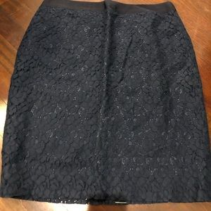 Brand new jcrew lace pencil skirt with tags!